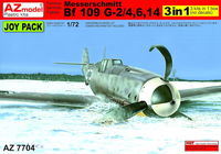 Messerschmitt Bf 109G-2/Bf 109G-4/Bf 109G-6/Bf 109G-14 (sprues only), 3 kits only. No decals