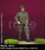 Move, Jerry! British trooper w/Lee-Enfield No. 4, 1943-45