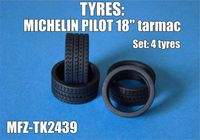 "Michelin Pilot tyres 18"" tarmac - Image 1"