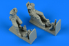 Soviet WWII Pilot and Gunner for Il-2m3 Sturmovik wit seat Figurines TRUMPETER
