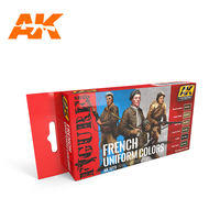 AK-3270 FRENCH UNIFORM COLORS FIGURE SERIES SET