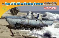 Japanese Type 2 Ka-Mi with Floating Pontoon Amphibious Tank