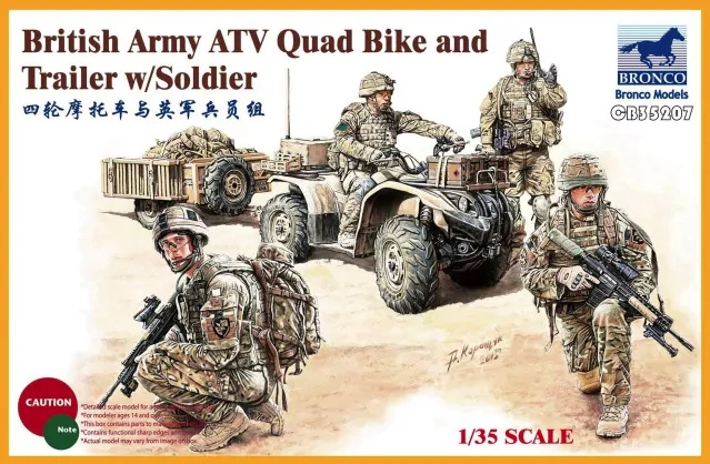 British Army ATV Quad Bike & Trailer - Image 1