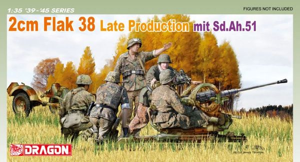 2cm FlaK 38 Late Production mit Sd.Ah.51 - Image 1